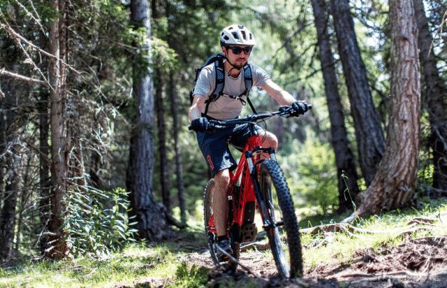 Mountainbiker Naturpark