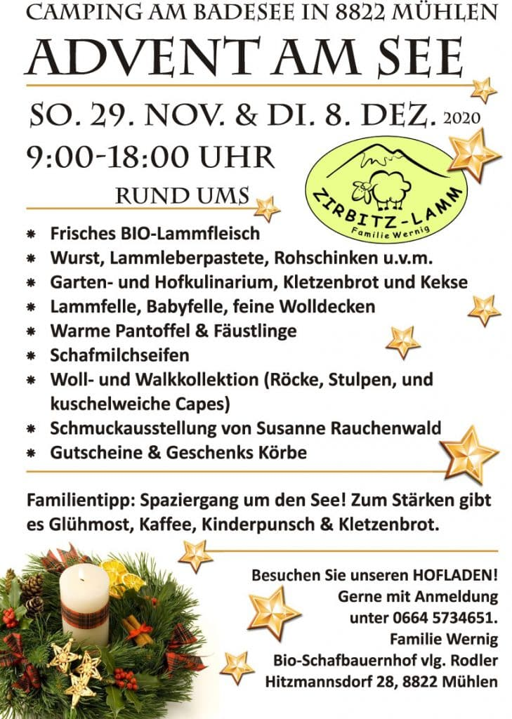 Plakat Advent am See